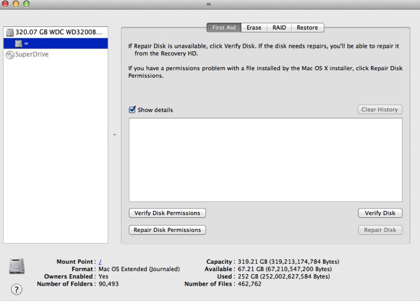 partition de disque dur sur Mac étape 2