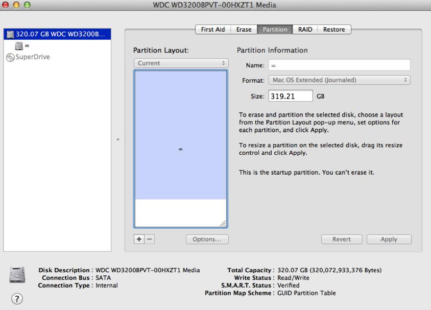 partition de disque dur sur Mac étape 3