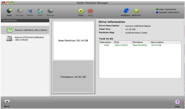partition de Stellar Partition Manager étape 5