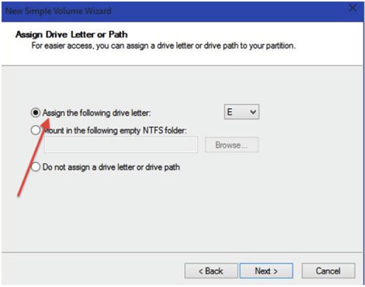 partition de disque dur avec de l'outil de gestion de l'ordinateur étape 7