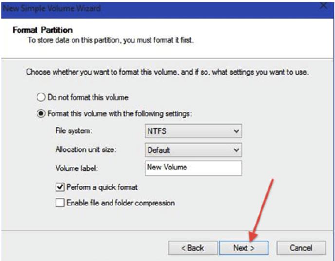 partition de disque dur avec de l'outil de gestion de l'ordinateur étape 8