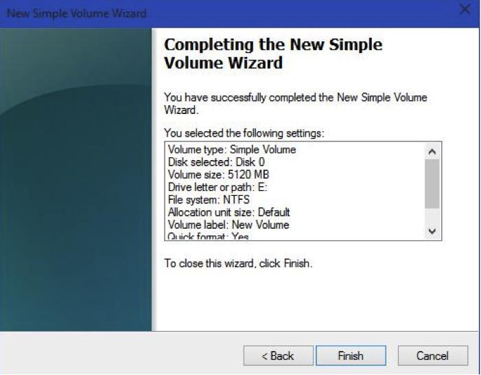 partition de disque dur avec de l'outil de gestion de l'ordinateur étape 9