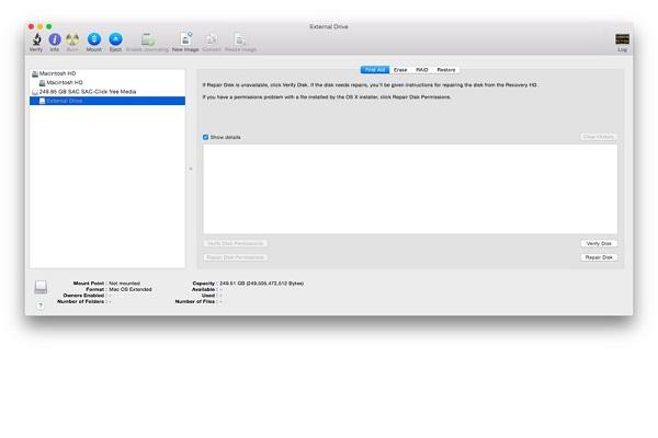 réparer un disque dur non reconnu sur Mac étape 3